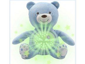 Chicco medvedík s projektorom modrý