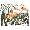 sestava plastovych vojacku s prislusenstvím 307 kusů