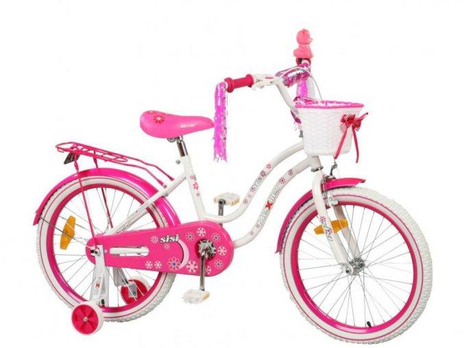 Mexller detsko kolo s vodici tyci Sisi 20 bilo ruzove
