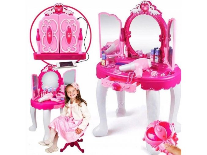 Doris toaletni stolek ruzovy
