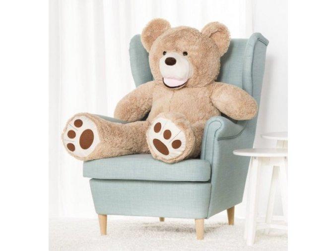 plysovy medved Maty 130 bezovy