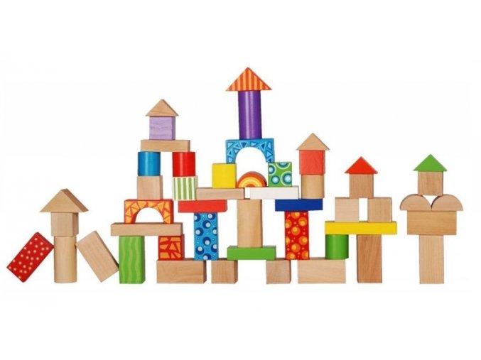 ecotoys stavebnice kostky 50 ks