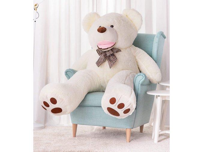 plysovy medved Maty 160 bily