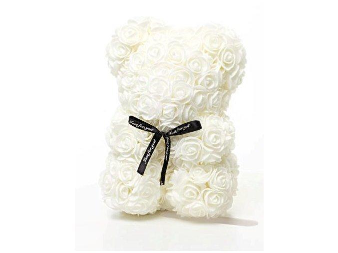 Rose Bear bily 25 cm – 2