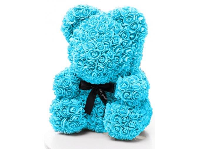 medved z ruzi modry 40 cm