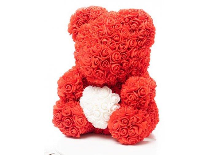 medved z ruzi cerveny se srdcem 40 cm