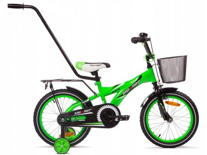 """Dětské kolo Mexller BMX s vodící tyčí zelená lesk 16"""""""