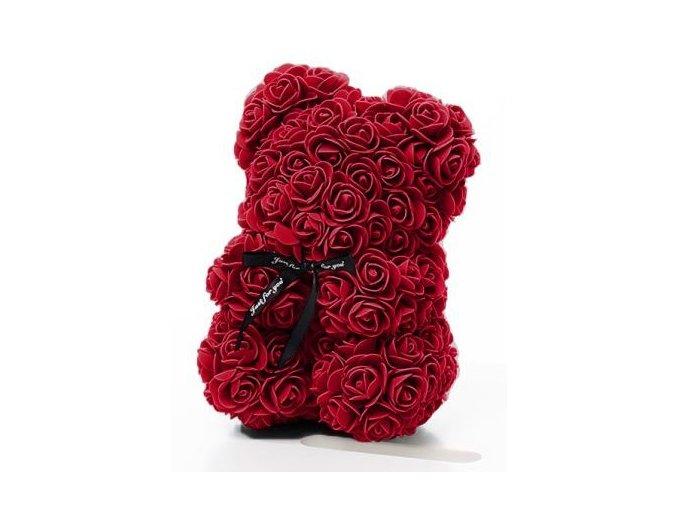 medved z ruzi bordo 25 cm