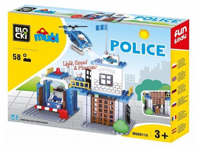 Blocki Mubi policejni stanice 58 dilku se svetlem a zvukem