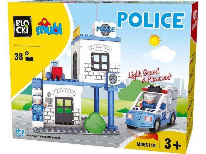 Blocki Mubi policejni stanice 38 dilku se svetlem a zvukem