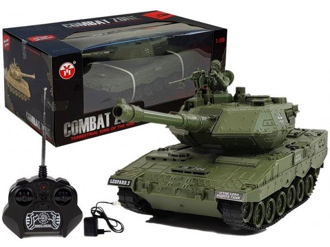 Tank Combat na dalkove ovladani zeleny
