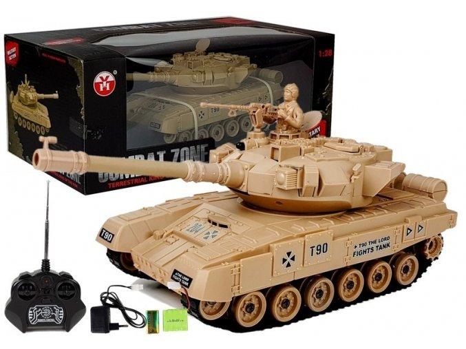 Tank Combat na dalkove ovladani zeleny Russian T90 hnedy