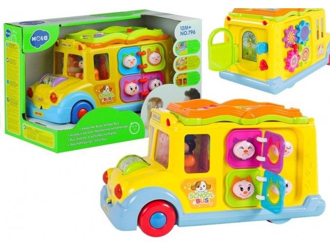 Huile Toys interaktivni autobus se svetly a zvuky