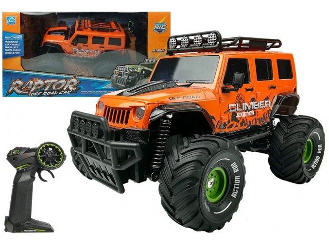 Auto na dalkove ovladani Raptor 1 18 oranžové