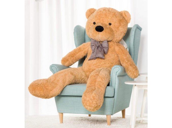 plysovy medved Kvido 160 bezovy