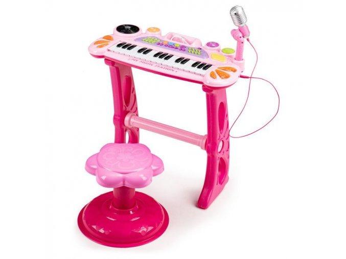 Ecotoys detske klavesy s MP3 ruzova