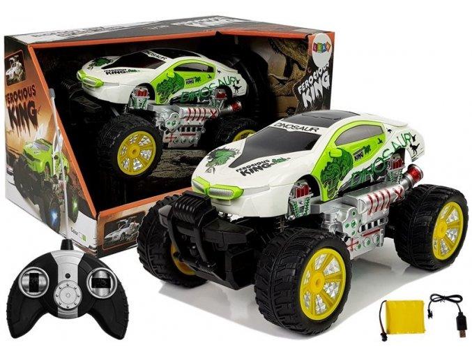 Auto na dalkove ovladani Dinosaurus King Bile