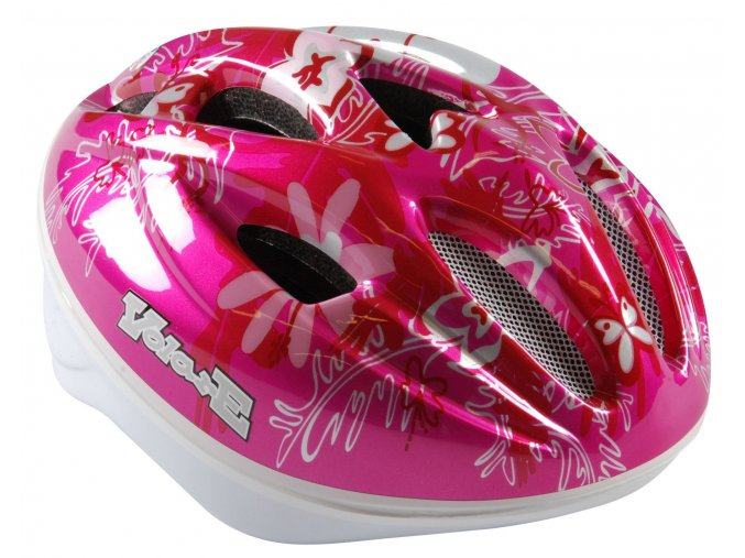 Volare detska helma na kolo Pink Butterfly