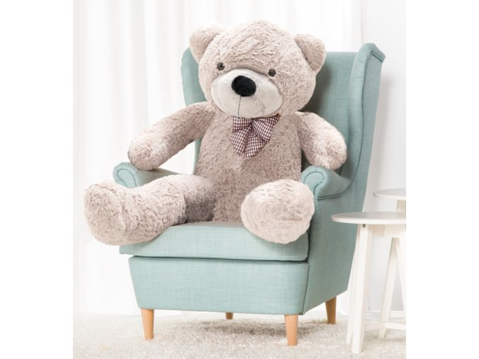 plysovy medved Kvido 130 cm sedy