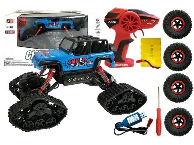 Auto na dalkove ovladani Super Climber 1 18 modre