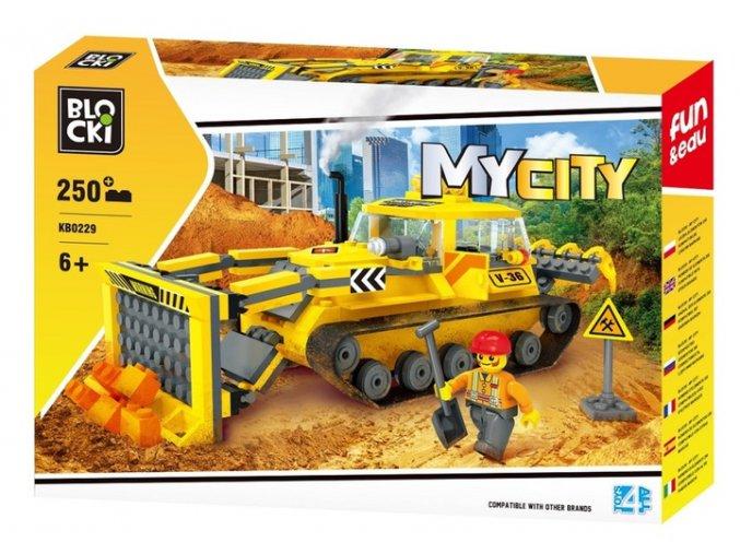 stavebnice Blocki stavebni buldozer 250 dilku