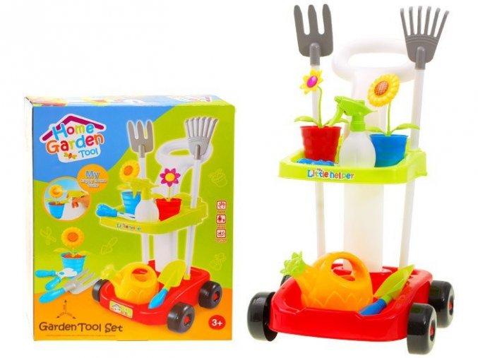 detska zahradni vozik cerveny 2