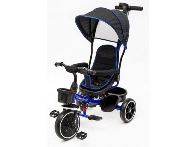 Ecotoys trikolka s otocnym sedadlem X360 tmave modra