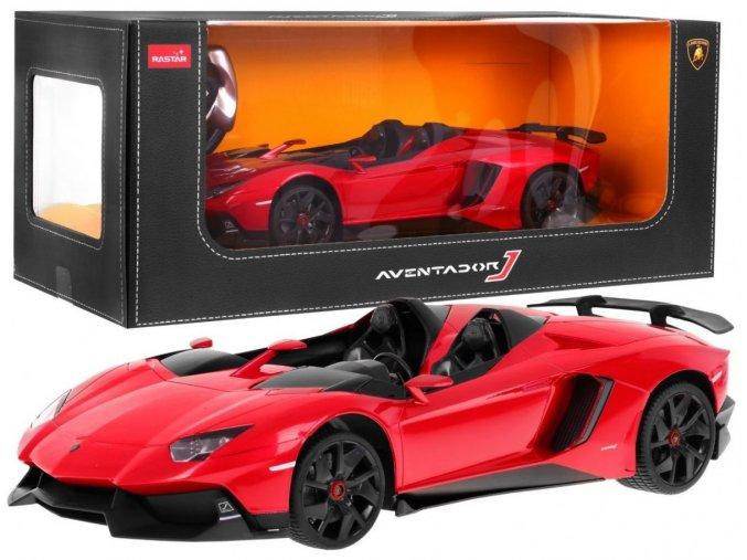 auto na dalkove ovladani Lamborghini Aventador J 1 12 cervene