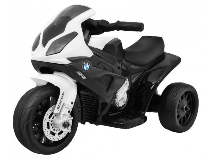 elektrická motorka BMW RR1000 bila