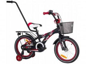 Mexller detsko kolo s vodici tyci 16 cerno cervene