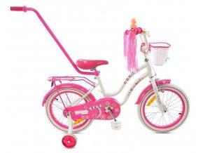 Mexller detsko kolo s vodici tyci Sisi 16 bilo ruzove (1)