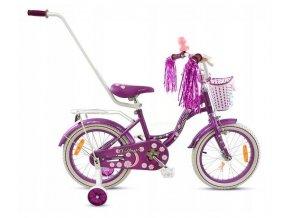 Mexller detsko kolo s vodici tyci 16 Village bilo fialova