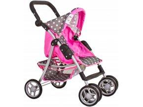 Doris sportovní kočárek pro panenku 9352 šedo-růžový