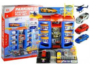 Majlo Toys garaz s vytahem 3 auticka