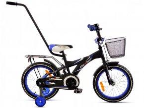 Mexller detsko kolo s vodici tyci 16 cerno modre