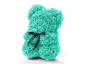 medved z ruzi mintovy se srdcem 25 cm