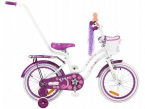 Mexller Sisi detsko kolo s vodici tyci 16 bilo fialove