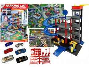 Majlo Toys garaz s vytahem 6 auticek podlozka
