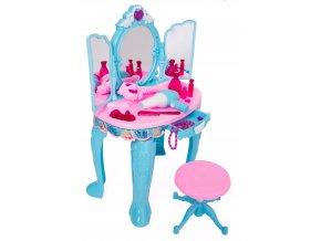 Doris toaletni stolecek magicke zrcadlo modre 4