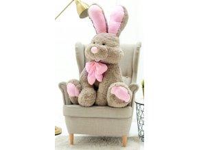 plysovy kralik Bunny 120cm hnedo ruzovy