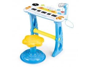 Ecotoys detske klavesy s MP3 modre