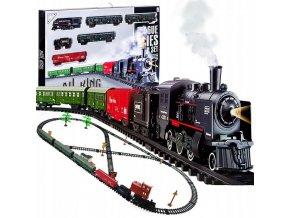 Doris vlacek s kourici lokomotivou