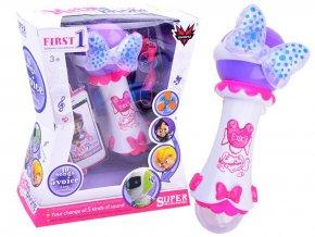 detsky mikrofon First Voice bily 7