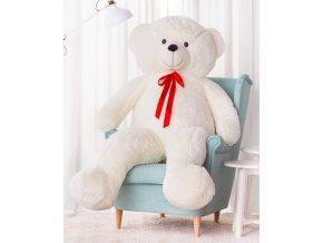 plysovy medved Hugo bily 190 cm
