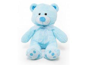 plysovy medvidek First Teddy modry