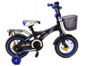 mexller detske kolo s vodici tyci 12 palcu cerno modre