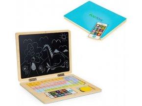 ecotoys dreveny notebook modry