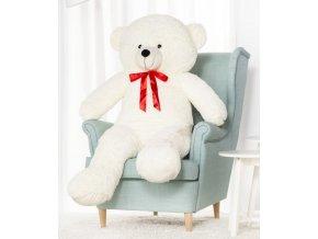 plysovy medved Hugo bily 140 cm