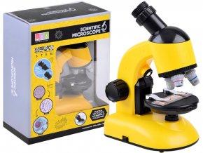 detsky mikroskop žluty