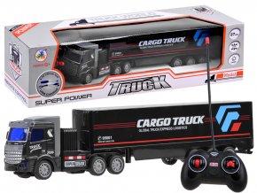 kamion na dalkove ovladani cerny